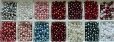 300pcs x 6mm Faux Pearl Beads In14 Colours for Craft Jewellery Making