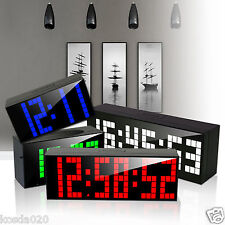 Digital Large LED Wall Desk Alarm Clock Electrical Clock Calendar Snooze Light
