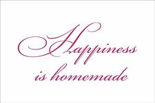 HAPPINESS IS HOMEMADE Quote sticker decal vinyl wall art decoration HH2