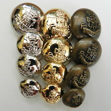 5 x military buttons Green Howards  silver gold or bronze 15mm 18mm 21mm 25mm