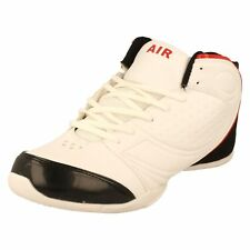Mens Airtech JUMP White with black back and red line lace up trainers