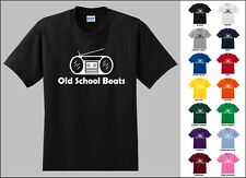 Old School Beats Boombox Boom Box Hip Hop Vintage Radio Music Player T-Shirt