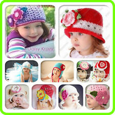 Cute handmade Crochet knit Beanies Hats for Baby Toddler Boy Girl Kids