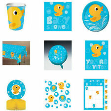 Duck Lil Quack Baby Shower Tableware Decorations Plates Cups Napkins Banner