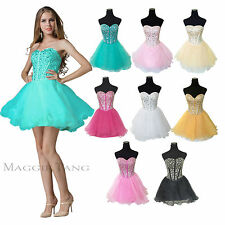 Beaded Corset Homecoming Graduation Sweat16 Birthday Bridesmaid Prom Party Dress