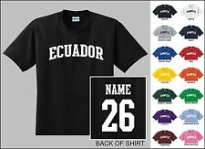 Country Of Ecuador Custom Name & Number Personalized Youth T-shirt