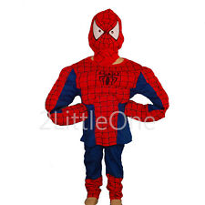 Halloween Spiderman Muscle Hero Boy Halloween Fancy Party Costume Sz 3T-8 FC005B