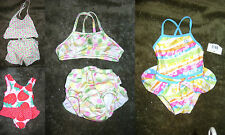 Nice Toddler Girls 18 mth Swimsuit 1 piece Strawberry-Ocean Pacific-2 pc-Ruffled