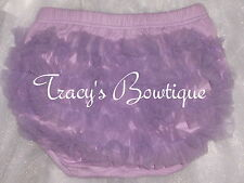 Baby Toddler Girl's Lavender Cotton Chiffon Ruffle Panty Bloomers Diaper Covers