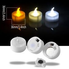 24/60/100pcs Cool / Warm White  LED Flameless Tealight Electronic Candles Lights