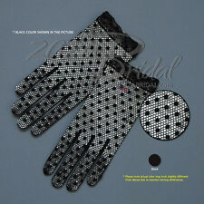 Delicate Stretch Filet Crochet Gloves with Dot decorate-Victorian+Regency