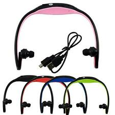 Wireless Headset Headphones Micro SD TF Card Sport MP3 Player With FM Radio 6817