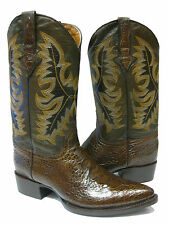 MEN'S BROWN LEATHER BELLY CROCODILE ALLIGATOR COWBOY BOOTS FOR WESTERN RODEO