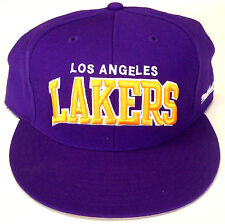 NBA Los Angeles Lakers Mitchell and Ness Fitted Cap Hat Choose Your Size M&N NEW