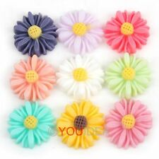 ONLY $1.97 12Pcs Flower Mum Resin Flatback Cabochon Scrapbook Album 13mm