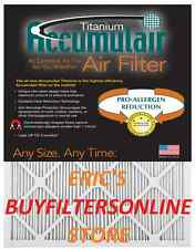 4 TITANIUM ACCUMULAIR HOME PLEATED AIR FILTERS LONG LIFE ALLERGY DUST REDUCING