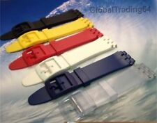 17mm / 12mm QUALITY RESIN WATCH STRAP for SWATCH WATCH including Strap Pins