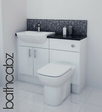 WHITE GLOSS BATHROOM FITTED FURNITURE 1100MM