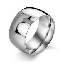 11.5mm WIDE Men's Titanium Steel Ring Wedding Bands Love gift + RING BOX J108