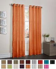 """ORANGE CRUSHED SATIN WINDOW CURTAIN PANEL WITH 8 GROMMETS, CURTAINS - 52""""x84"""""""