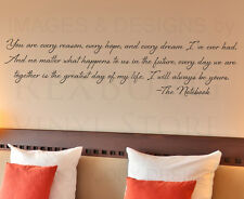 Wall Decal Quote Sticker Vinyl Art Letter Your Are Every Reason The Notebook L75