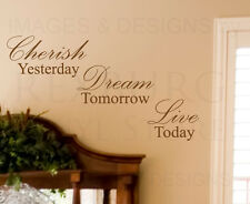 Wall Decal Art Sticker Quote Vinyl Lettering Decorative Letter Cherish Time I33