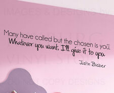 Wall Decal Sticker Quote Vinyl Lettering Decoration Justin Bieber One Time B80