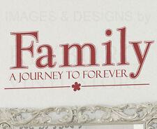 Wall Decal Quote Sticker Vinyl Art Lettering Mural Family Journey to Forever F49