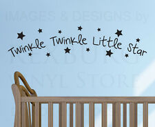 Wall Decal Quote Sticker Vinyl Art Mural Twinkle Twinkle Little Star Nursery B99
