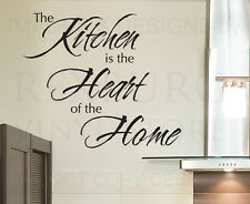 Wall Sticker Decal Quote Vinyl Art Lettering The Heart of the Home Kitchen KI17