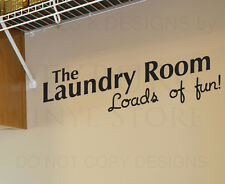 Wall Decal Sticker Quote Vinyl Art Letter Loads of Fun Funny Laundry Room LA16