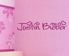 Wall Decal Quote Sticker Vinyl Art Lettering Letter Decoration Justin Bieber B76