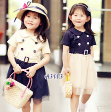 Cute Girl's Dress Skirt Spring Summer Wear Kids Children's Clothes,Age 2-10yrs