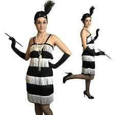 Jazz Charleston Gatsby Flapper Fancy Dress Costume 20's 1920's 1930's