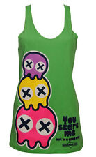 Newbreed Girl You Scare Me Ladies Tank Top Vest Emo,Kawaii,Bright,Cool,Pac Ghost