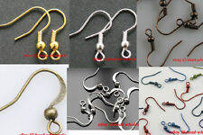 100pcs/500pcs Silver/Gold/Bronze/Copper Metal Earring Finding Clasps Hooks 19mm