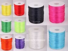 10m Chinese Knot Beading String Nylon Cords Thread -2mm Diameter You Pick Color
