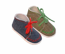 NEWBORN BABY BOYS SLIPPERS - BOOTIES - PRAM SHOES - AGE 0-12 MONTHS - FABULOUS !