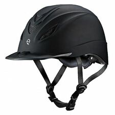 TROXEL INTREPID BLACK ENGLISH AND WESTERN RIDING SAFETY LOW PROFILE HELMET S M L