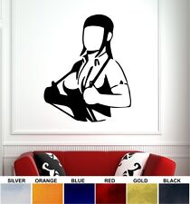 SKINHEAD GIRL WALL STICKER - CHROME VINYL - 6 COLOURS - SKA TWO TONE LAMBRETTA