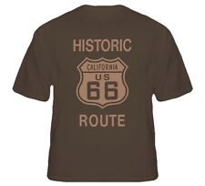 Historic Route 66 Cali USA road sign trucker biker t shirt