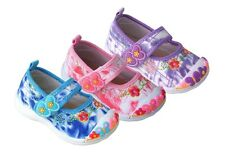 BABY GIRLS CANVAS SHOES PLIMSOLLS - NURSERY SHOES UK size 4-7 /EU 20-24 PRETTY !