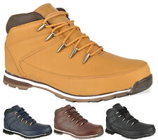 MENS CASUAL OUTDOOR WALKING WORK HIKING LACE UP ANKLE WINTER SHOES BOOTS SIZE