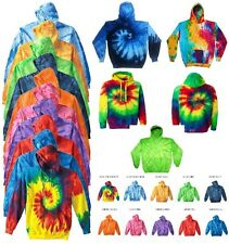 TYE-DIE HOODIE, 80/20 COTTON/POLY BLEND, MID-WEIGHT, 14 COLORS! S M L XL 2X 3X