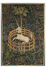 Unicorn In Captivity From Unicorn Tapestries 1505 Vintage Art Poster/Photo  Re