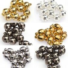 10 Sets Silver /Gold Plated Gunmetal Black Round Ball Magnetic Clasps 6mm/8mm