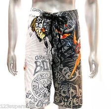 "z3 Minute Mirth Shorts Sz 32"" 34"" 36"" 38"" Skate Surf Beach Swim Tattoo Trunks"
