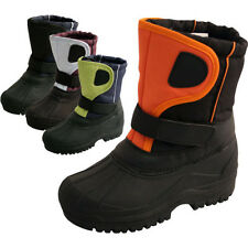 **KIDS BOYS GIRLS WINTER SNOW MOON MUCKER WATERPROOF WELLIES BOOTS SHOE