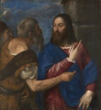 Tribute Money Titian about-1560-8 perhaps begun in the 1540 Art Photo/Poster Rep