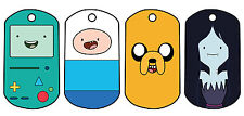 Adventure Time With Finn And Jake Character Dog Tags *Free Ball Chain* Free post